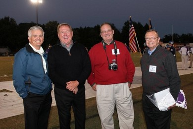 Reggie Hassler, Bryan Cheek, Lee Coleman, and Johnny Mallard at the Broughton Football Hall of Fame Induction